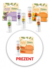 Laura Conti Herbal 3 balsamy do ust + Balsam z rokitnikiem w prezencie